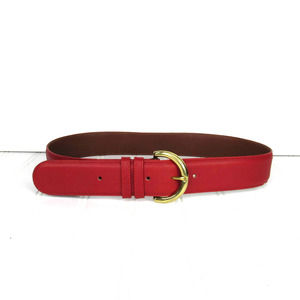 COACH VINTAGE RED LEATHER BELT STYLE 8500